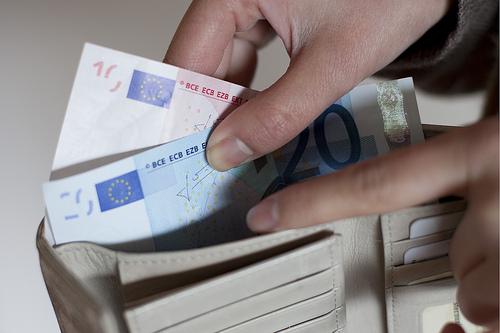 Geld im Portemonaie Inflation